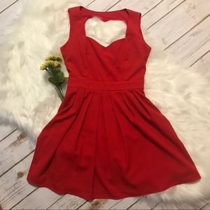 Tea & Cup Red Sweetheart Dress